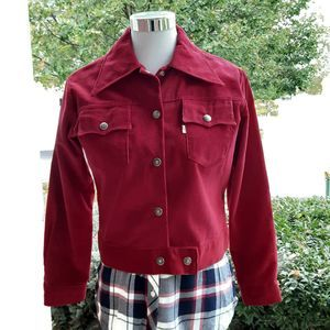 Vintage Levi's 70's Red Corduroy Big E  Jacket
